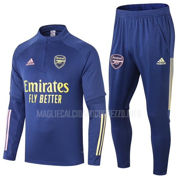 felpa arsenal blu 2020-21