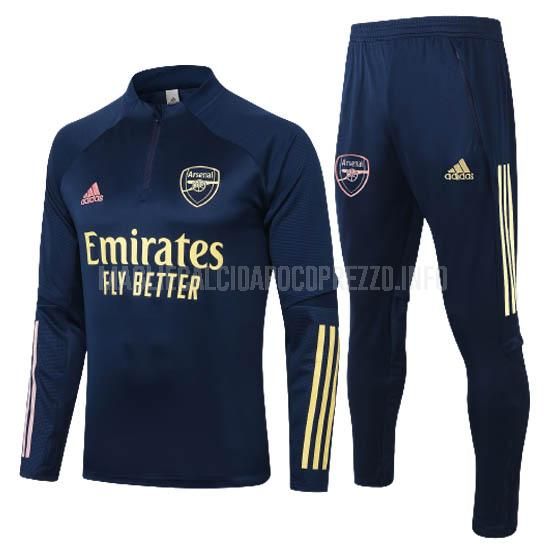 felpa arsenal blu scuro 2020-21