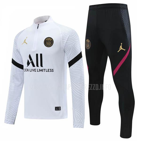 felpa paris saint-germain ii bianco 2020-21