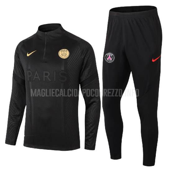 felpa paris saint-germain nero 2020-21