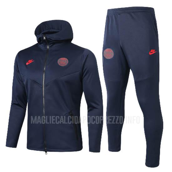 giacca cappuccio paris saint-germain blu navy 2020-21