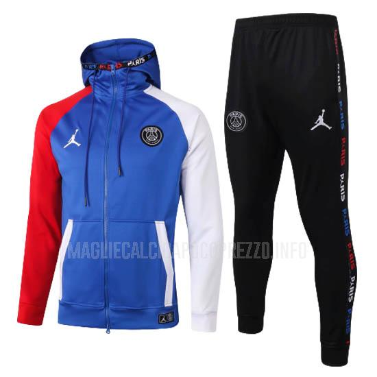 giacca cappuccio paris saint-germain i blu 2020-21