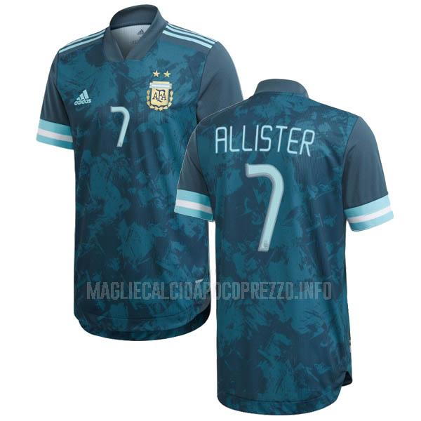maglietta argentina allister away 2020-2021