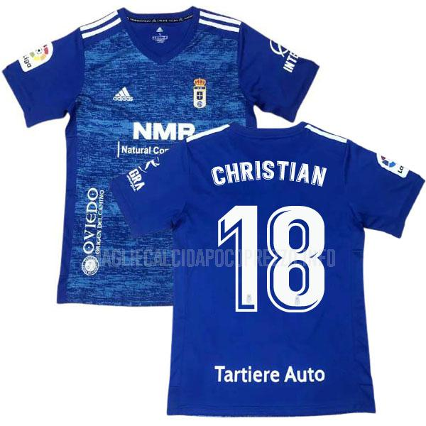 maglietta real oviedo christian home 2020-21