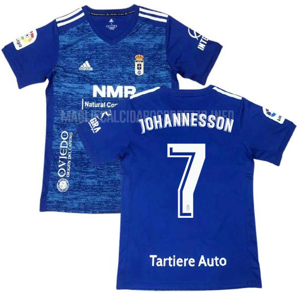 maglietta real oviedo johannesson home 2020-21