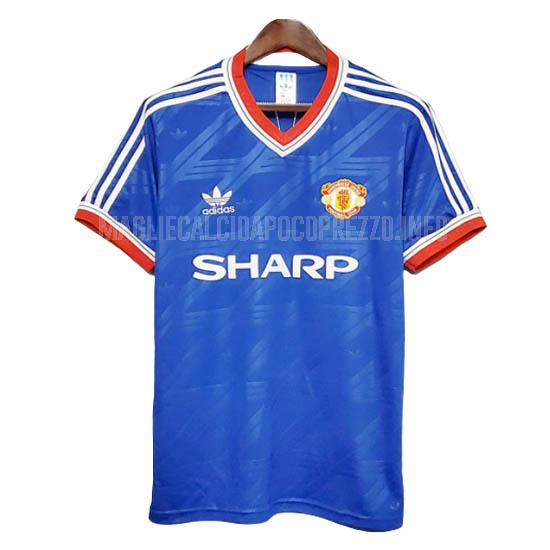 maglietta retro manchester united away 1986-88