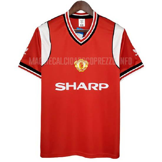 maglietta retro manchester united home 1985-86