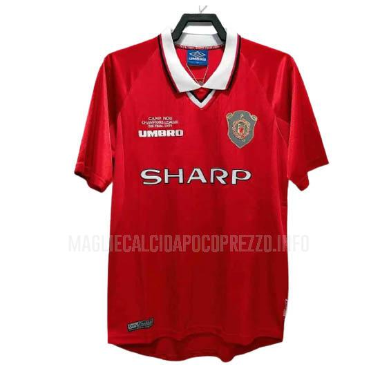 maglietta retro manchester united home 1999-2000