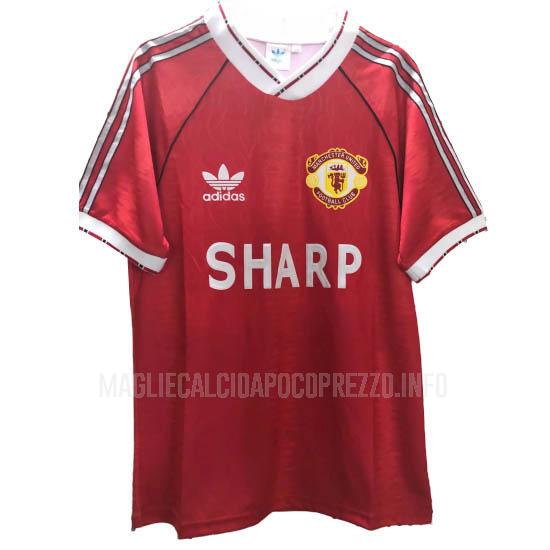 maglietta retro manchester united home 1999