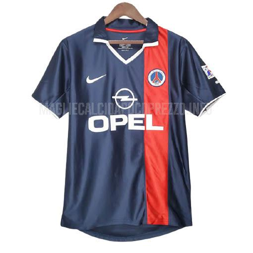 maglietta retro paris saint-germain home 2001-2002