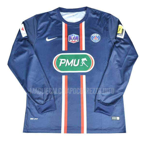 maglietta retro paris saint-germain manica lunga home 2011-13