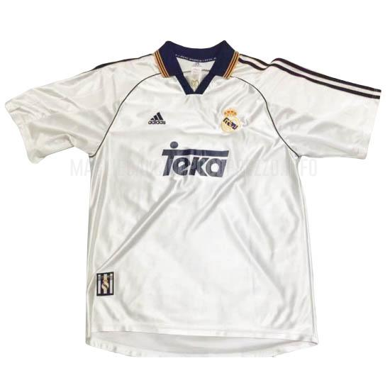 maglietta retro real madrid home 1998