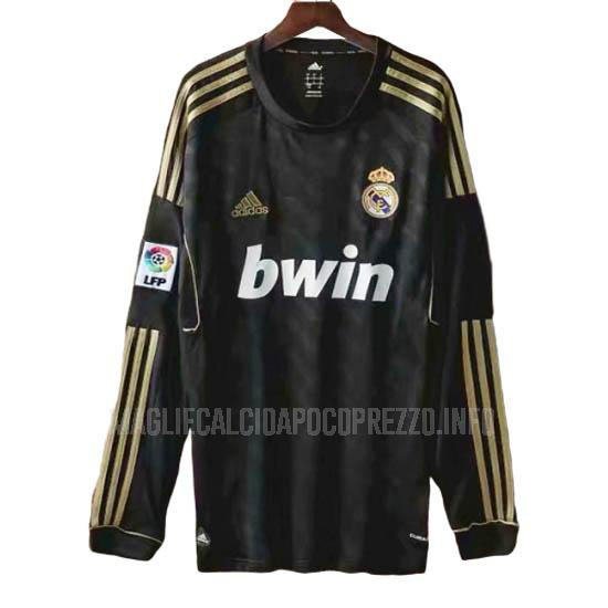 maglietta retro real madrid manica lunga away 2011-2012