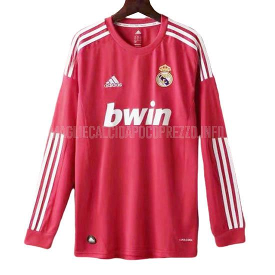 maglietta retro real madrid manica lunga away 2012