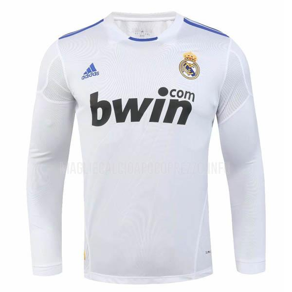 maglietta retro real madrid manica lunga home 2010-2011