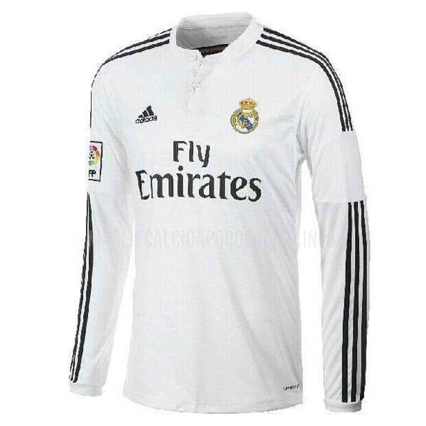 maglietta retro real madrid manica lunga home 2014-15