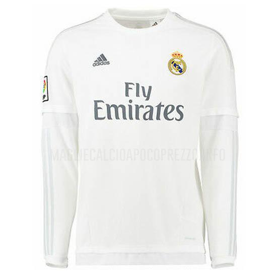 maglietta retro real madrid manica lunga home 2015-2016