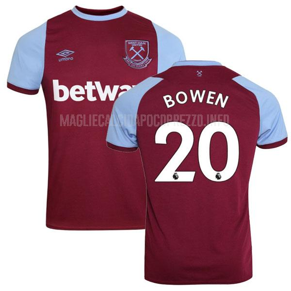 maglietta west ham bowen home 2020-21